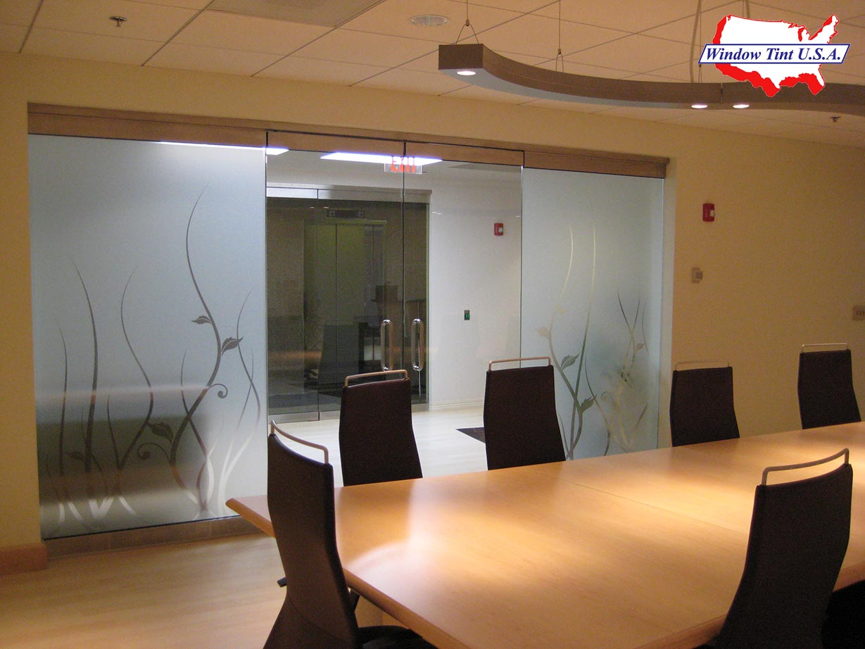 Decorative window tint adding class to your glass - Interior window tinting for privacy ...