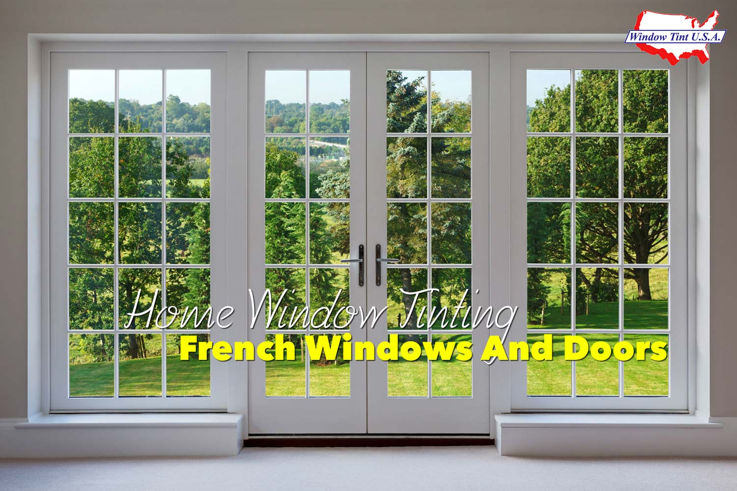 tips for applying home window tinting to french windows and doors